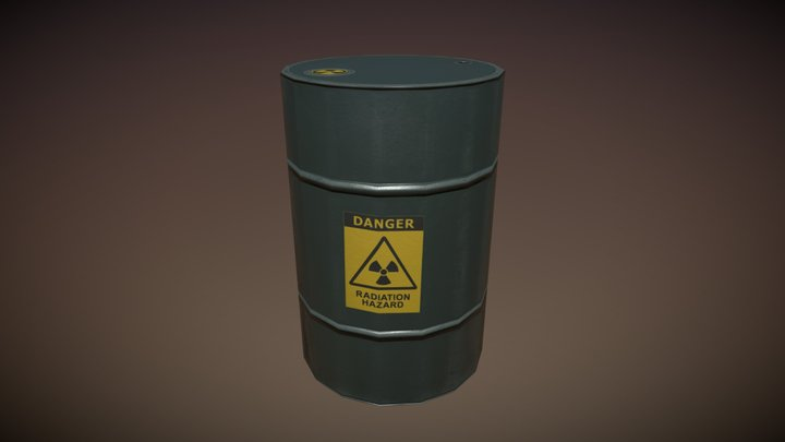 Oil Barrel Black 3D Model