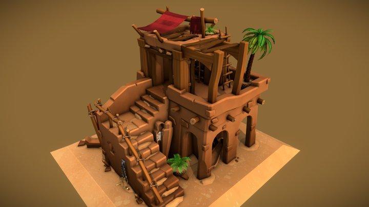 Stylized Mummyfier and Sarcophagus Shop 3D Model