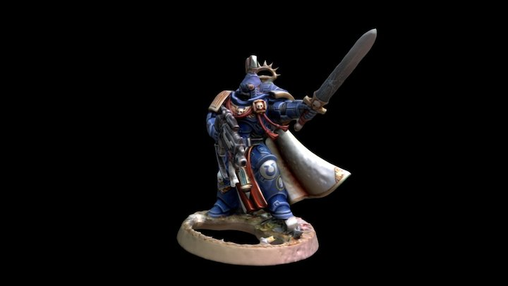 Primaris Captain 3D Model