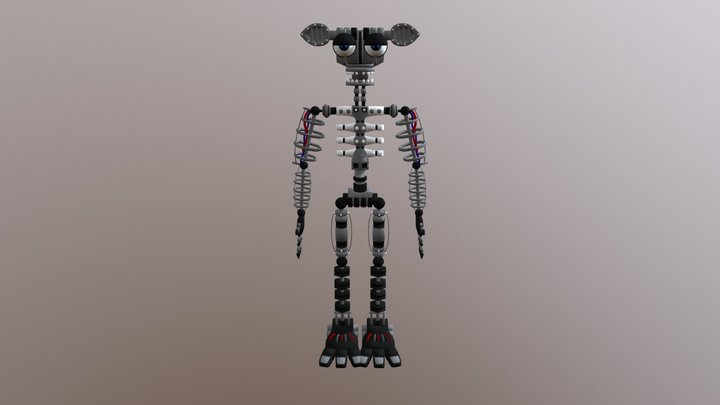 E_A FNaF 2 Endoskeleton 3D Model