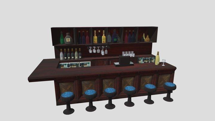 Bar - Stocked 3D Model