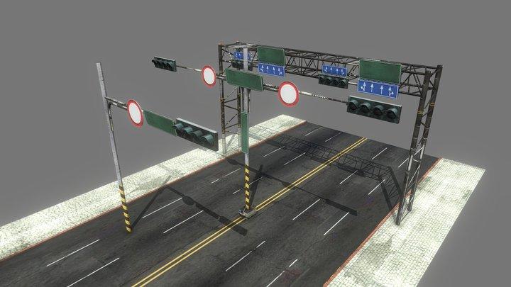 Road Traffic Sign 3D Model