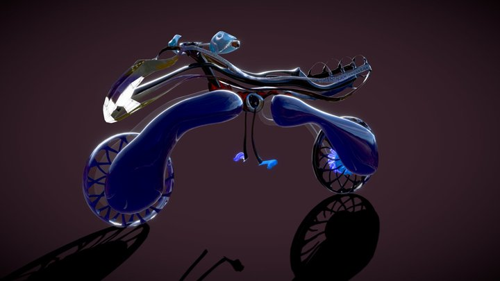 Quadcopter Transformer - Sci-Fi Motorcycle 3D Model