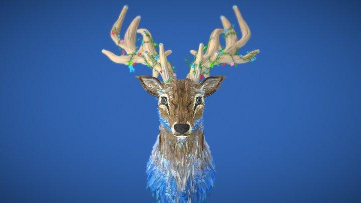 CoolPaintrVR - Blue Deer 3D Model