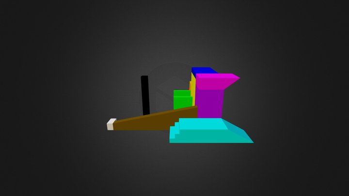 Parkour section one  3D Model