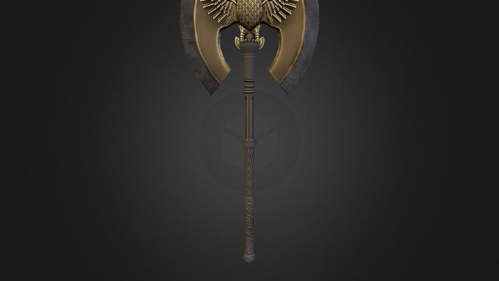 Eagle Axe Obj 3D Model