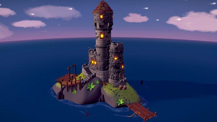 Stylized Imperial island 3D Model