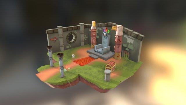 Temple level 3D Model