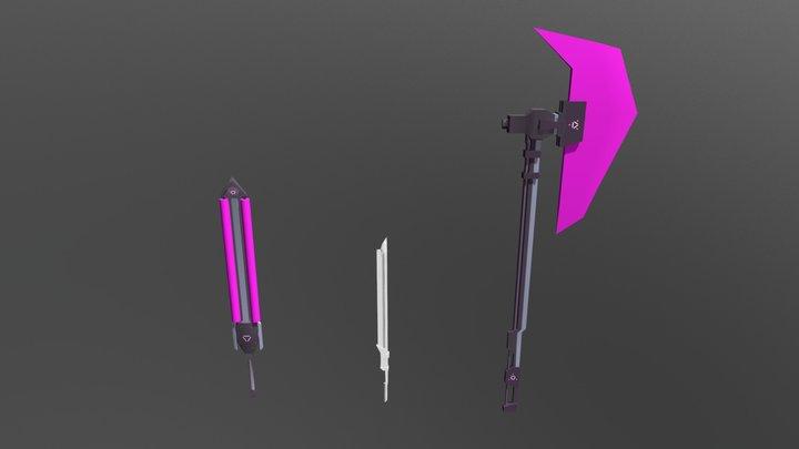 Weapons Concept 3D Model