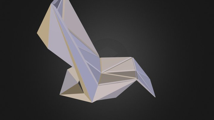 FAUTEUIL ORIGAMI.obj 3D Model