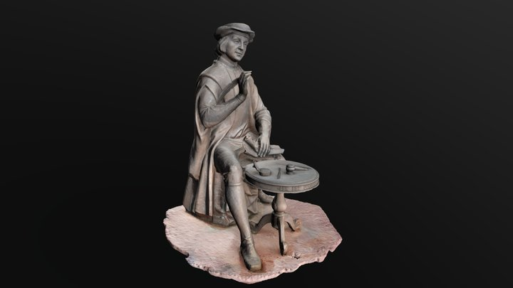 sculpture of a notary the city of Izhevsk Russia 3D Model