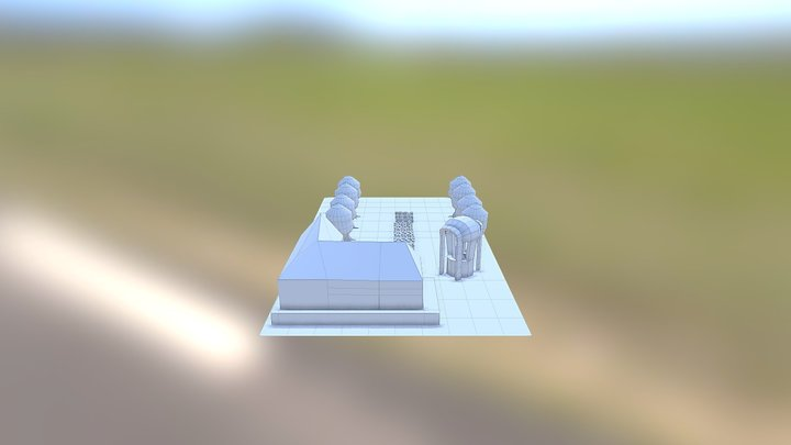 Cena Entrada Cartoon Renderizada 3D Model