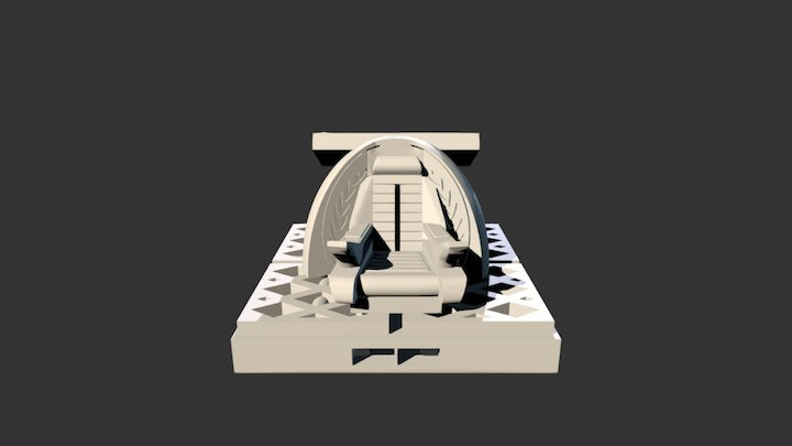 2x2 Captain's Chair 3D Model