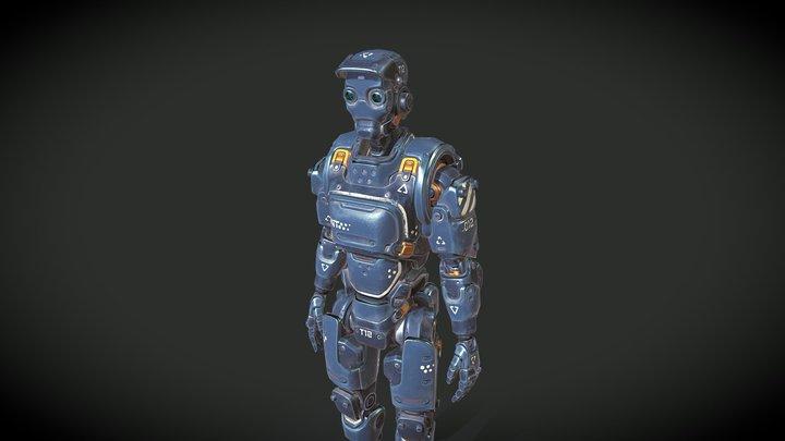 Destructible Robot 3D Model
