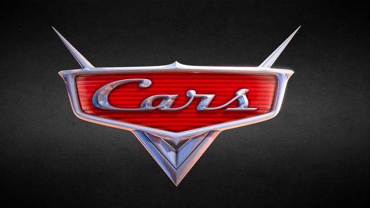 Disney•Pixar's Cars logo 3D Model