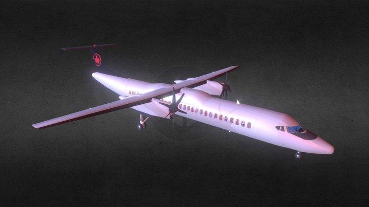 Dash-8 q400 (with cockpit)ver IX) 3D Model