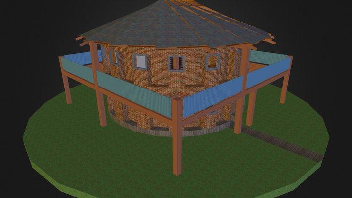 CORDwood residence (1) 3D Model