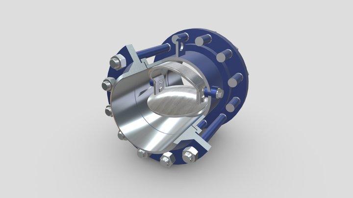 19c47нж фланцевый 3D Model