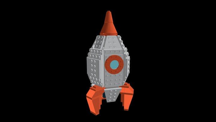 LEGO® Classic Rocket MOC 3D Model