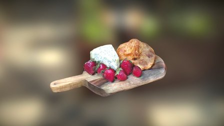 Cheese Plate 3D Model