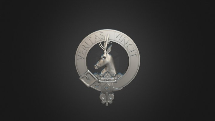 Clan Keith Crest 3D Model