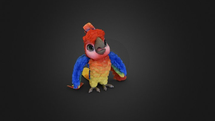 Parrot Toy - Raw scan 3D Model