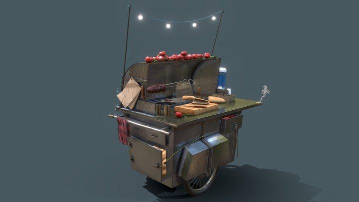 Street Food Vendor Challenge - Kokorec 3D Model