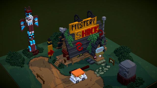 Gravity Falls // Mystery Shack 3D Model