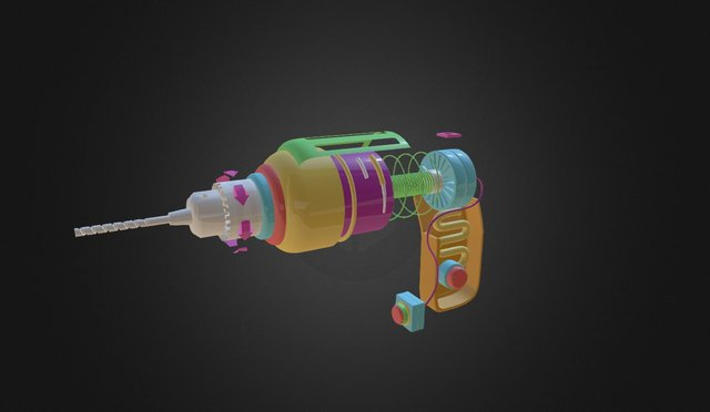 Toy Drill 3D Model