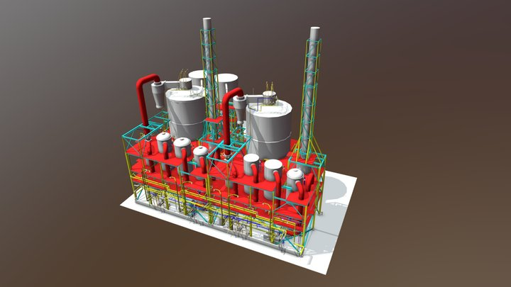 Chemical industry 3D Model