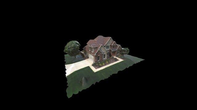 House Exterior 720p Drone 3D Model