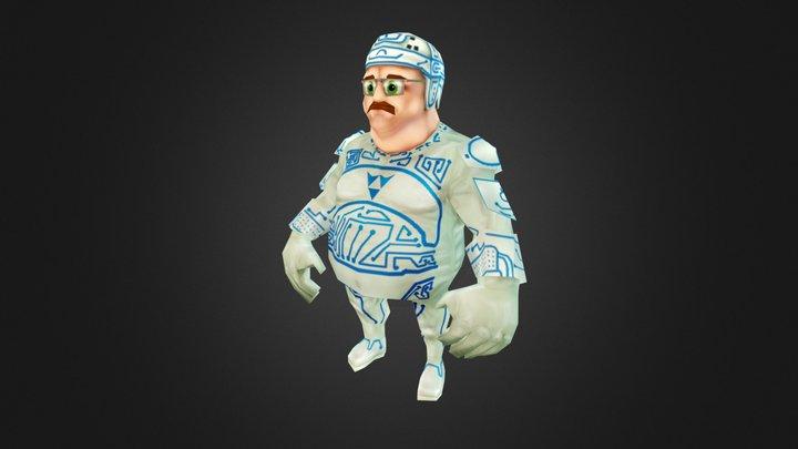 Tron Guy 3D Model