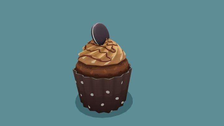 Oreo Cupcake 3D Model