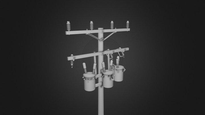 Standard Power Pole - 1/24 Scale
