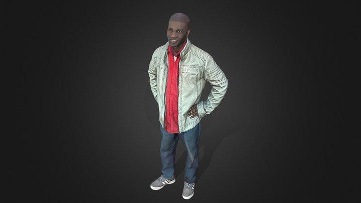 Man-White- Jacket 3D Model
