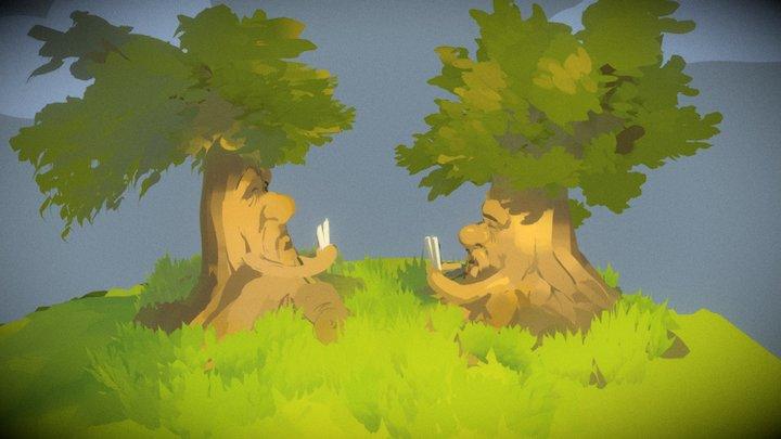 Sapient Trees 3D Model