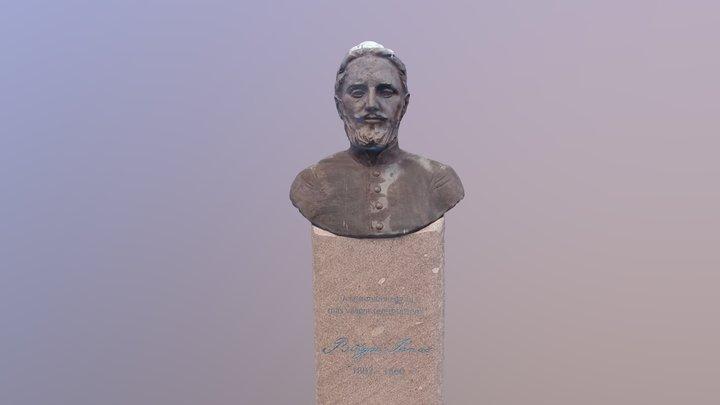 Bolyai János mellszobor / Boylai bust Sapientia 3D Model