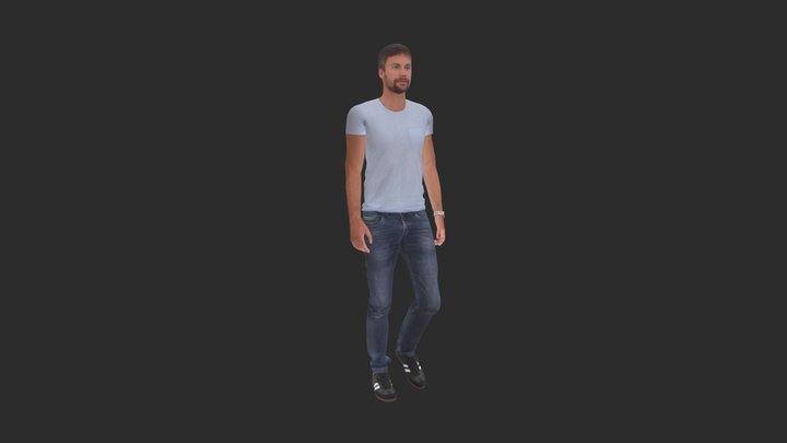 Nathan Animated 003 - Walking 3D Man 3D Model