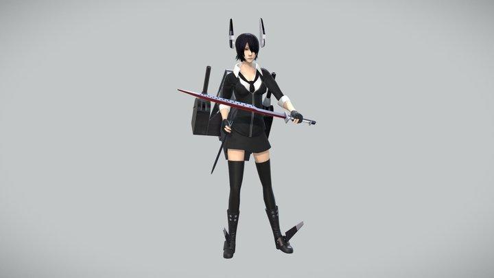 天龍(艦隊これくしょん) - Tenryu PBR.ver 3D Model