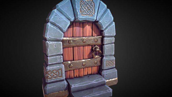 Wee Celtic Door 3D Model
