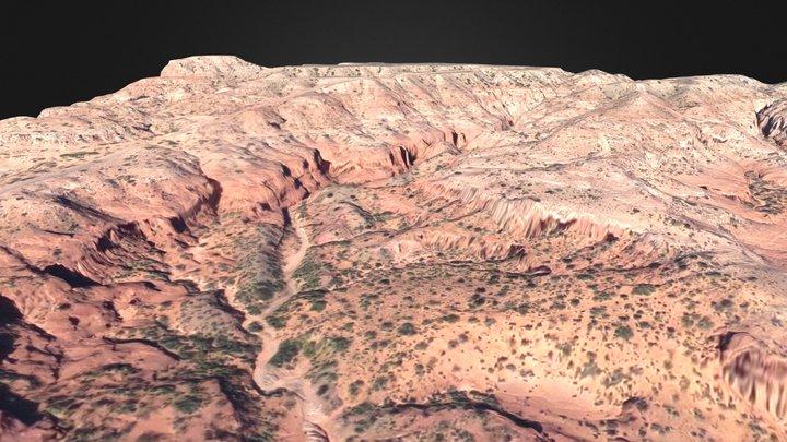 Loma de la Lata; Neuquén, Argentina 3D Model