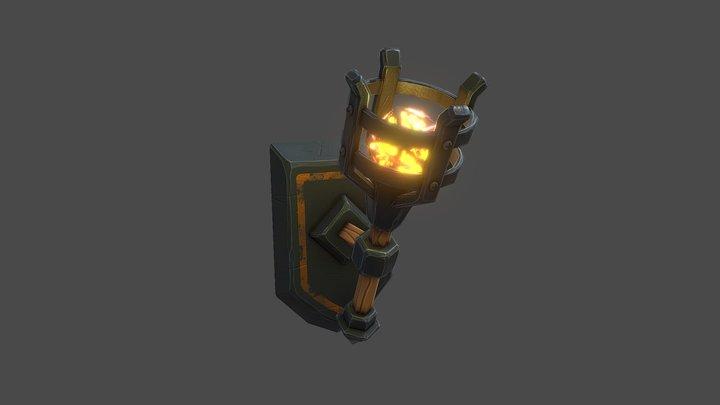 Stylized torch 3D Model