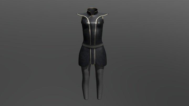 Leggings, Lapel, Vest 3D Model