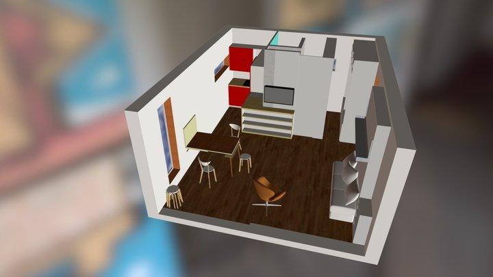 q-box 2 interior 3 3D Model