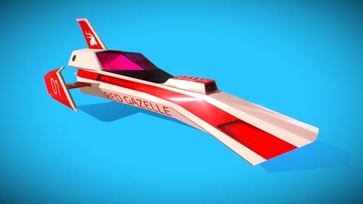 Red Gazelle Remix 3D Model