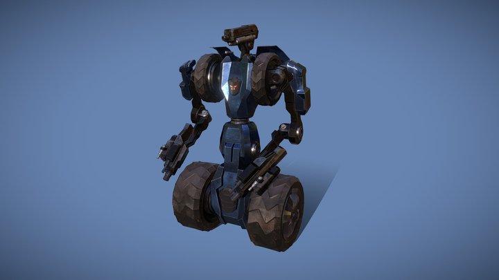 Sci-Fi Robot Fighter Destroyer. Game ready asset 3D Model