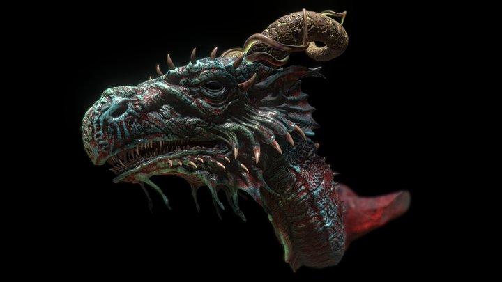 Dragon Concept 02 (book art) 3D Model