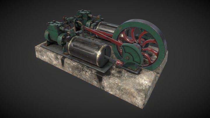 Twin Steam Engine 3D Model