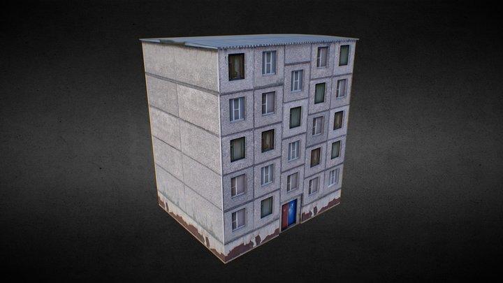 Khrushchyovka (Eastern Europe panel house) 3D Model