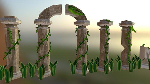 Colunas 3D Model